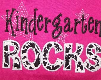 Trendy Kindergarten Rocks shirt Teacher shirt School shirt