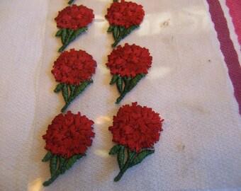 tiny chrysanthemums appliques