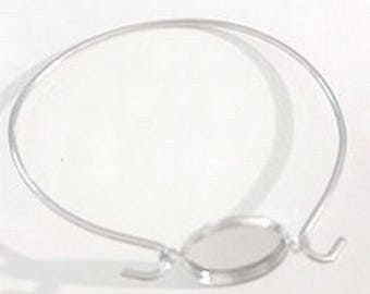 Set of 3 small round silver bracelet holders