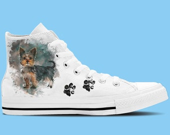 Yorkshire Terrier Artwork High Top Shoes / Sneakers - Dog lovers shoes