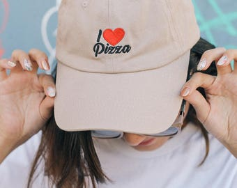 I Love Pizza Dad caps