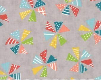 Pinwheels on Gray Fabric - Mixed Bag from Moda