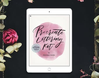 Procreate brush and lettering kit for the ipad pro modern