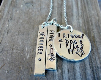 Dog Necklace Personalized - Dog Necklace for Women - Dog Jewelry - Dog Memorial - Pet Memorial - Hand Stamped Jewelry