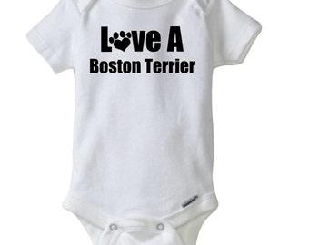 Boston terrier onesie etsy negle Images
