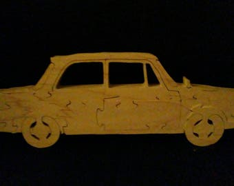 Freestanding  car puzzle