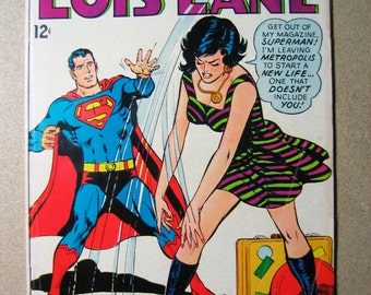 Lois Lane Comic Book 80, Superman's Girlfriend, Vintage Comic, Collectible, 1960s, Splitsville for Superman and Lois