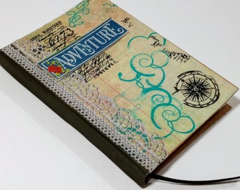 Handmade Journal, Adventure Journal, Pocket Diary, Writing Journal, Daily Journal, Lined Notebook, Unique Diary, Sister Christmas Gifts
