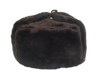 Russian Winter Hat Ushanka BROWN