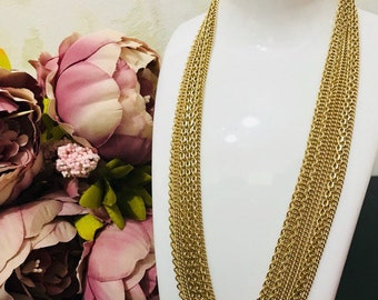 Vintage necklace with multiple chains