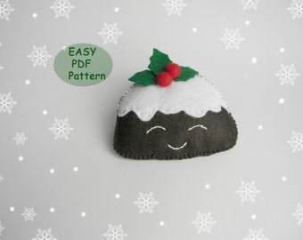 Pdf pattern mitten christmas ornaments pattern felt mitten pdf pattern felt christmas pudding easy christmas ornaments pattern easy sewing pattern felt holly and berries felt food pattern forumfinder Gallery