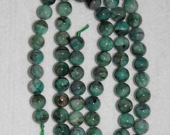 Emerald, Emerald Bead, 11 mm, Smooth Bead, Precious Gemstone, Opaque Bead, Natural Emerald, Gemstone Bead, Half Strand, AdrianasBeads