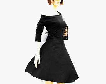 Dress / Lace-Up Dress / Little Black Dress / Black Dress / Dress for Women  / Casual Dress