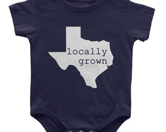 Texas Locally Grown Baby Bodysuit | ALL STATES AVAILABLE | Toddler Kids Youth Shirt | Baby gift | New mom gift | Baby shower