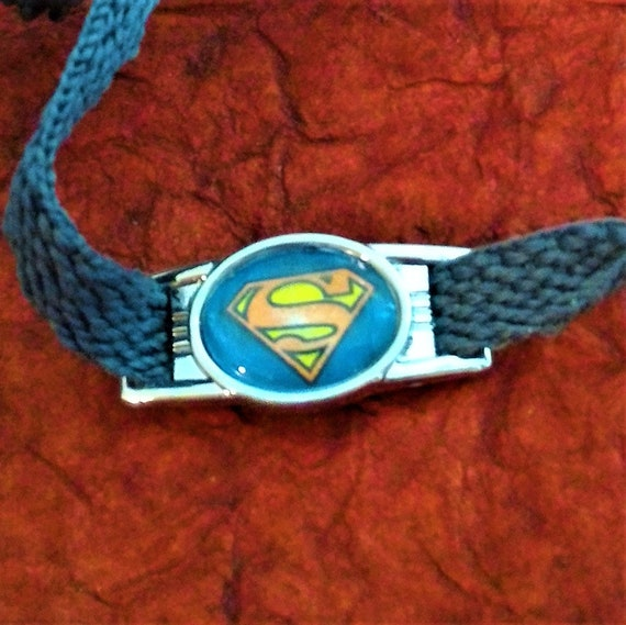 CLEARANCE 4 Superman Paracord Bracelet or Shoelace Charms, Shoe Tags Shoe Charms Superman Paracord Jewelry Superman Accessories Girls
