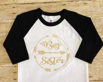 Big Sister Shirt, Little Sister Shirt, Custom Shirt, Sibling Shirts, Pregnancy Announcement, Baby Announcement Shirt