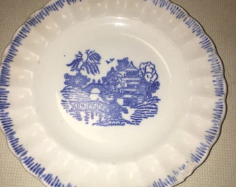 Limoges, blue willow plate