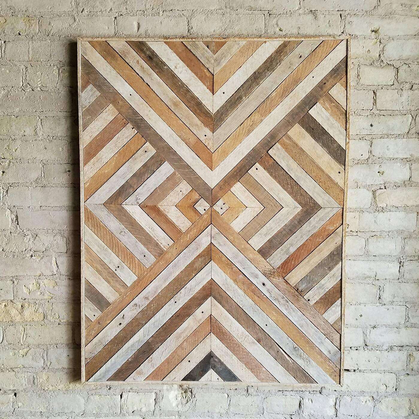 Reclaimed Wood Wall Art Decor Twin Headboard