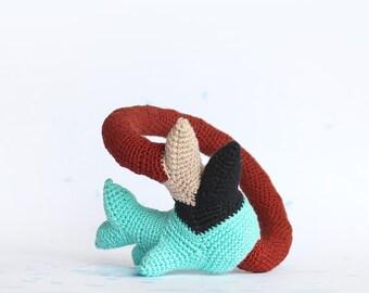 Crochet bangle - Northern coral