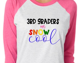 christmas teacher shirt, 3rd graders are snow cool, winter teacher t-shirt, winter break shirt, christmas break shirt, holiday teacher