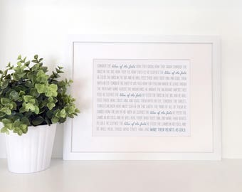 PRINTABLE - Consider the Lilies of the Field ~ Wall Art ~ Digital Print