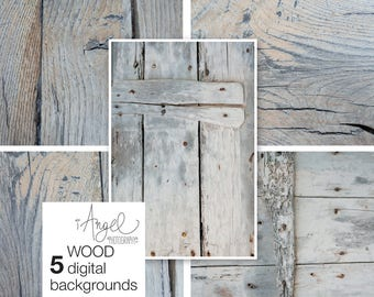 Digital textures of wood, 5 Digital backgrounds, Stock Photo, Scrapbooking, Backgrounds for Invites and Cards, High Res #DP013