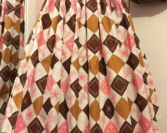 Western print 50s skirt