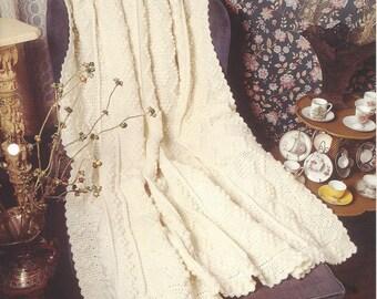 Alabaster Appeal Crochet Afghan Blanket Pattern, Home Decor, Bedspead, Sofa Throw, Bedding, The Needlecraft Shop