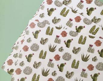 Cacti gift wrap, plants wrapping paper sheet, 29.7cm x 42cm, 3 sheets set