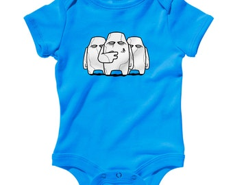 Baby RAS Crew Romper - Infant One Piece, Creeper - NB 6m 12m 18m 24m - Monster, Creature, Scary - 3 Colors