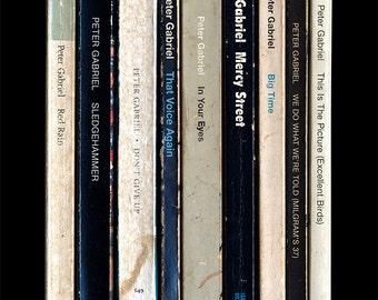 Peter Gabriel 'So' Album As Books Poster Print Literary Print Penguin Books
