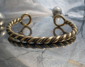 Viking infinite twisted  hand torc bracelet.