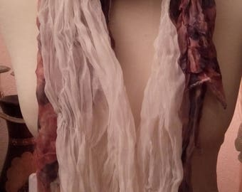Nice cotton, silk and viscose scarf