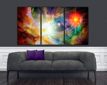 Nebula Deep Space Photo on Canvas - Stars, outerspace, Nebula Art, Space Poster, Space print, Large  Canvas, Night Sky, Panoramic Canvas