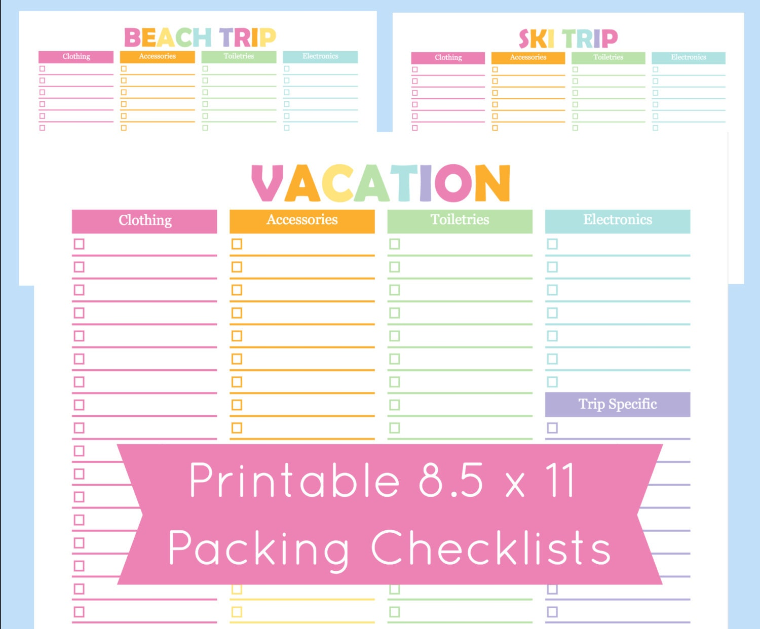 It's just a graphic of Crazy Vacation to Do List Printable