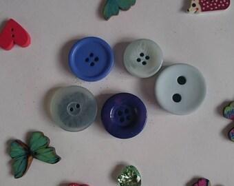 Pastel Vintage Button Fridge Magnets