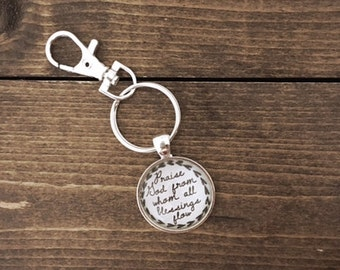 Doxology Keychain, Zipper charm, Gift Packaging