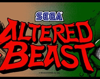 "Altered Beast, 12 x 36"" Video Game Poster, Print"