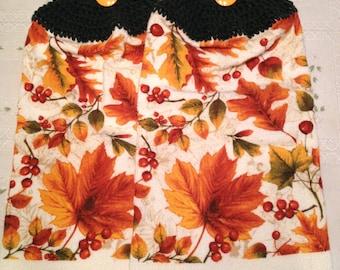 Fall Leaf  Print Towel set of 2