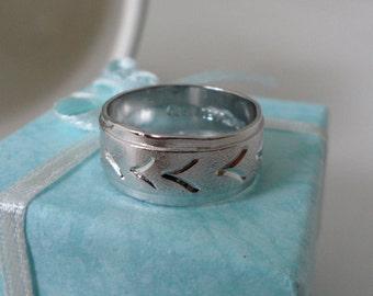 NOS Chevron Wedding Band V Wedding Band Cheap Wedding Rings Joseph Esposito Birds in Flight Silver Filled Espo Ring Alternative Wedding Ring