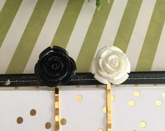 Floral Black & White / Page Clips