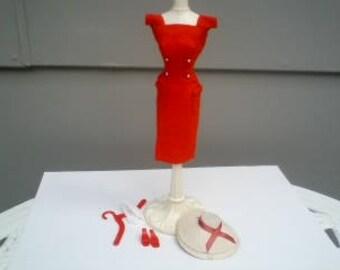 Vintage Barbie Red Sheath Sensation Minty