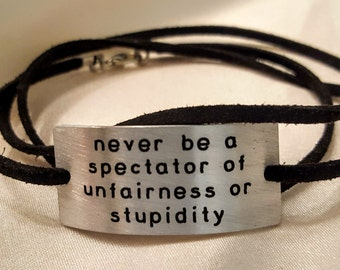 Atheist Humanist Skeptic Bracelet with Christopher Hitchens quote
