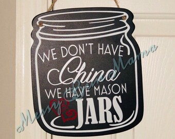Mason Jar Sign