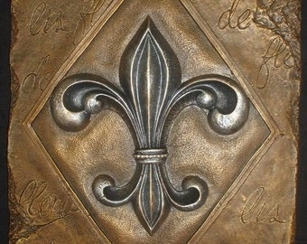 Fleur De Lis Wall Plaque French Art Home Decor