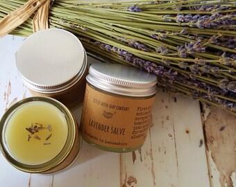 Lavender Salve, Lavender Balm, Natural Handmade Skincare, Soothing Salve