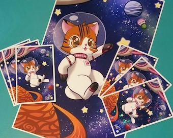 Astro Kitty Prints