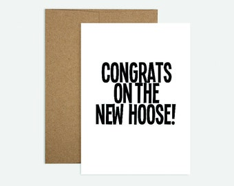 Congrats on the New Hoose!  - Scottish Themed New Home Greeting Card