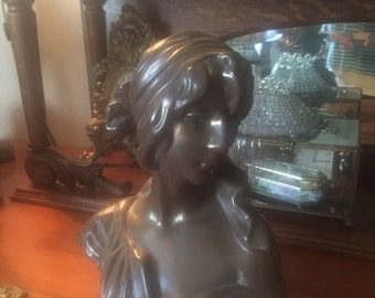 Art nouveau bust of woman