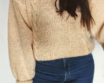 Vintage 80s Wool Mohair Sweater